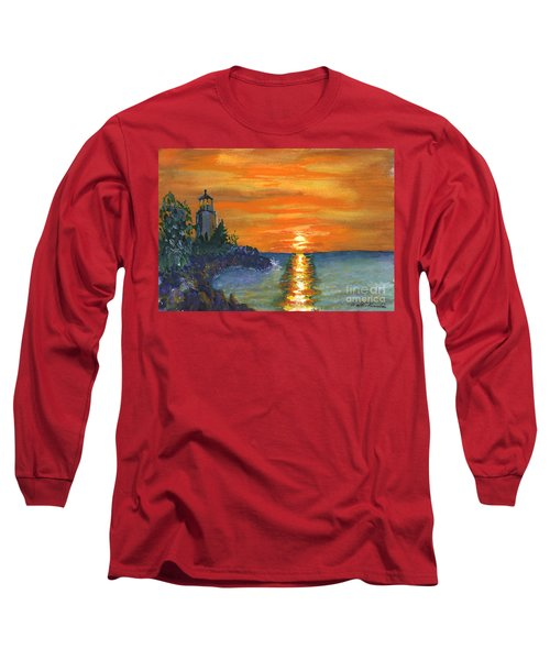 Sunset At The Lighthouse Long Sleeve T-Shirt