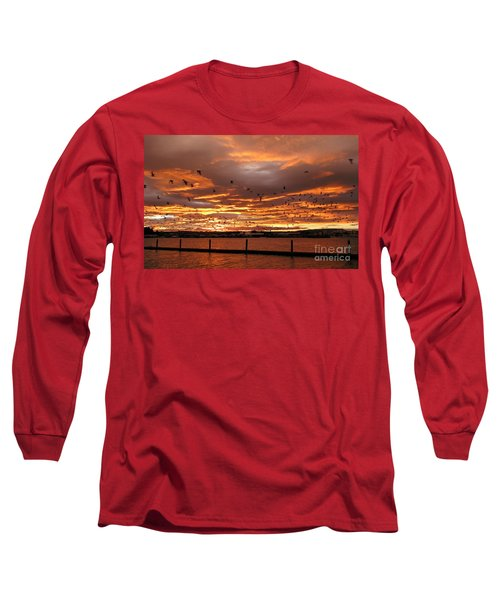Sunset In Tauranga New Zealand Long Sleeve T-Shirt