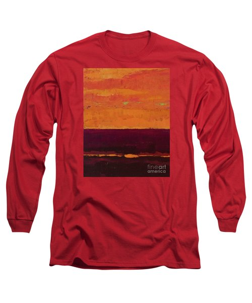 Sunset On The Pier Long Sleeve T-Shirt by Gail Kent
