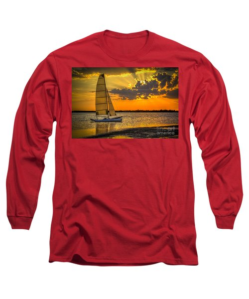 Sunset Sail Long Sleeve T-Shirt by Marvin Spates