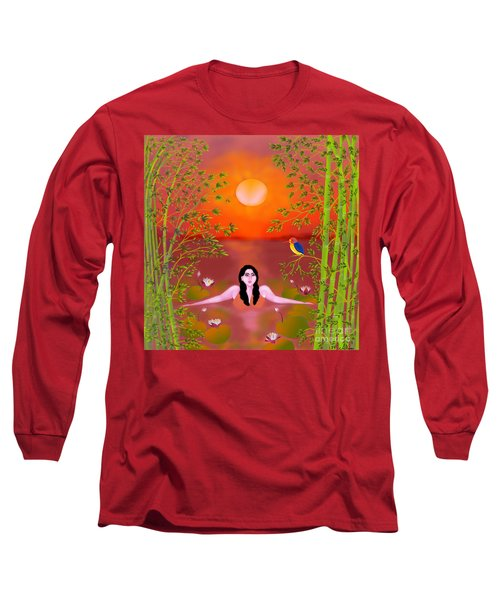 Sunset Songs Long Sleeve T-Shirt by Latha Gokuldas Panicker