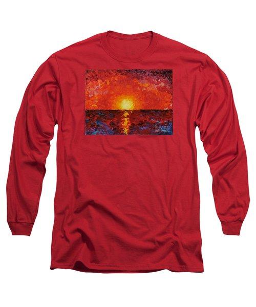 Sunset Long Sleeve T-Shirt by Teresa Wegrzyn