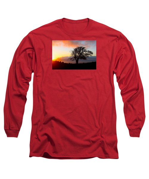 Sunset Tree In Maui Long Sleeve T-Shirt by Venetia Featherstone-Witty