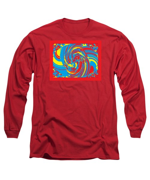 Long Sleeve T-Shirt featuring the painting Super Swirl by Catherine Lott