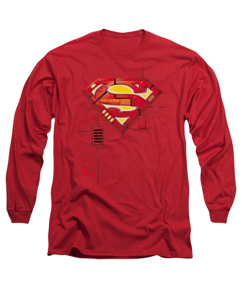 Superman - Super Mech Shield Long Sleeve T-Shirt