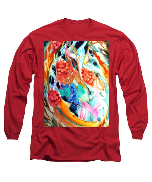 Swirling Grapes Long Sleeve T-Shirt