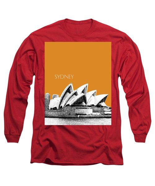 Sydney Skyline 3  Opera House - Dark Orange Long Sleeve T-Shirt
