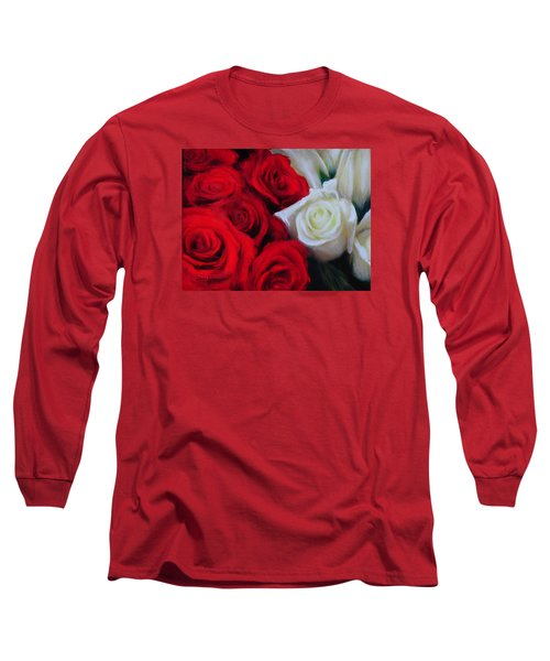 Da143 Symphony In Red And White By Daniel Adams Long Sleeve T-Shirt