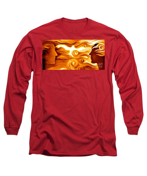 Synergy In Love Long Sleeve T-Shirt by Gem S Visionary