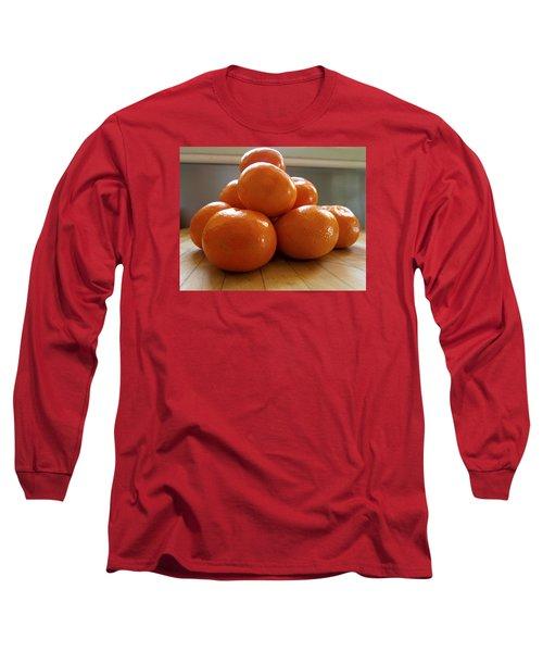 Tangerined Long Sleeve T-Shirt by Joe Schofield