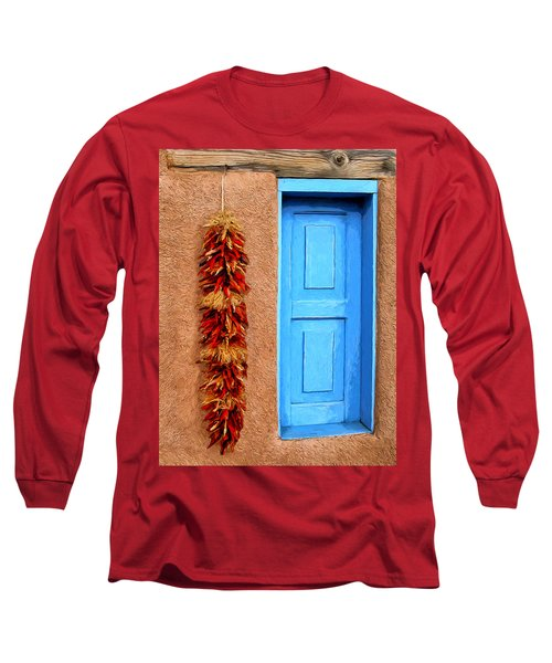Taos Blue Door Long Sleeve T-Shirt