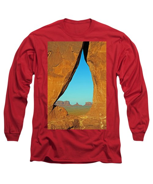 Tear Drop Arch Monument Valley Long Sleeve T-Shirt