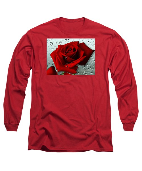 Tears From My Heart Long Sleeve T-Shirt by Morag Bates