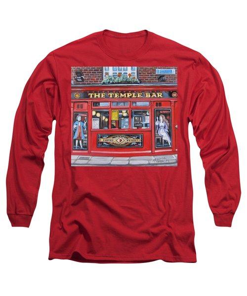 Long Sleeve T-Shirt featuring the painting Temple Bar Dublin Ireland by Melinda Saminski