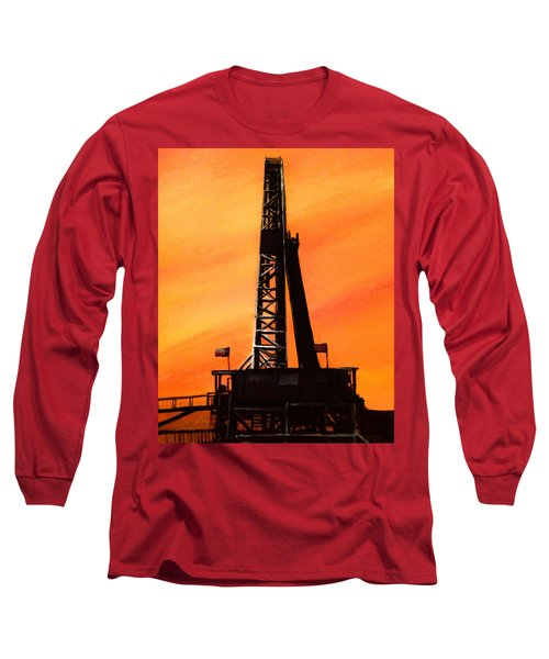 Texas Oil Rig Long Sleeve T-Shirt