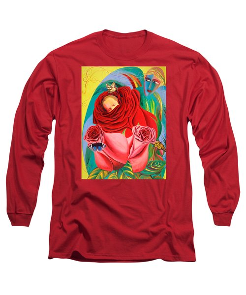 The Angel Of Roses Long Sleeve T-Shirt