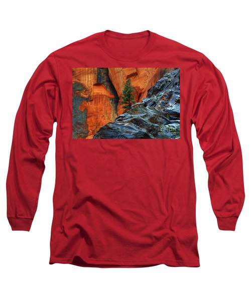 The Beauty Of Sandstone Zion Long Sleeve T-Shirt by Bob Christopher