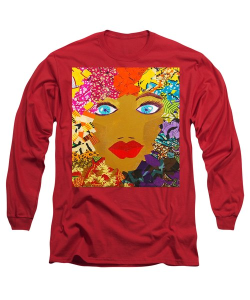 Long Sleeve T-Shirt featuring the tapestry - textile The Bluest Eyes by Apanaki Temitayo M