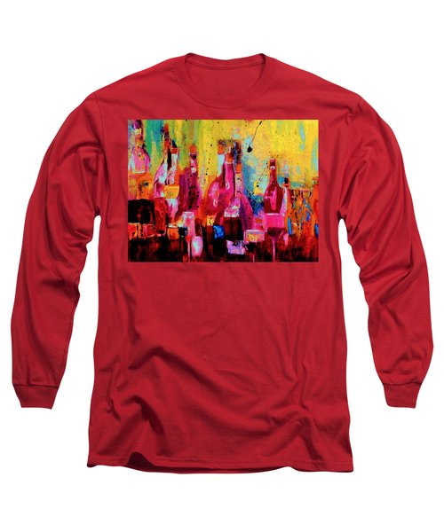 Long Sleeve T-Shirt featuring the painting The Cabaret by Lisa Kaiser