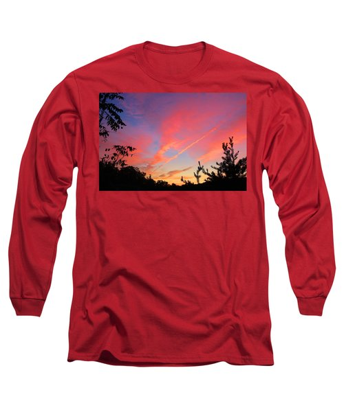 Long Sleeve T-Shirt featuring the photograph The Color Gets Good by Kathryn Meyer