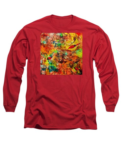 Long Sleeve T-Shirt featuring the painting The Forest Floor by Carolyn Repka