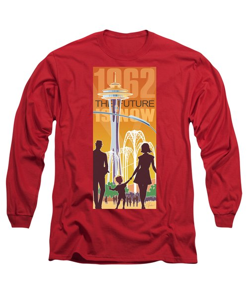 The Future Is Now - Orange Long Sleeve T-Shirt