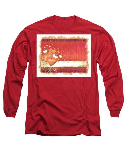 Long Sleeve T-Shirt featuring the digital art The Heart Knows by Liane Wright