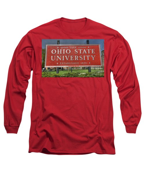 The Ohio State University Long Sleeve T-Shirt by David Bearden