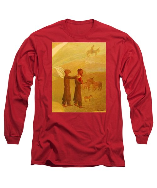 The Rabbi Leading The Angel Long Sleeve T-Shirt
