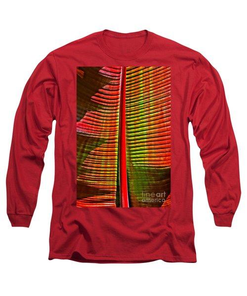The Red Palm Long Sleeve T-Shirt by Joseph J Stevens