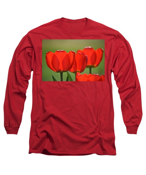 The Red Tulips Long Sleeve T-Shirt