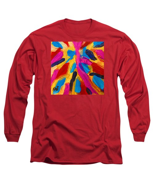 Long Sleeve T-Shirt featuring the painting The Sandy Road To Gbapi  - Bonthe Sierra Leone by Mudiama Kammoh