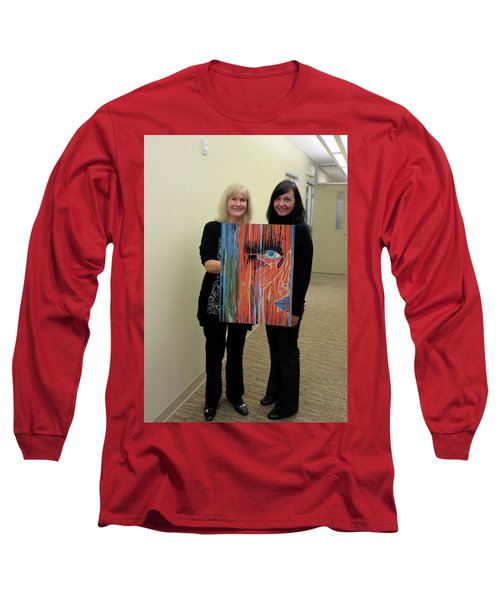 Long Sleeve T-Shirt featuring the painting The Way Eye See It by Kathleen Sartoris