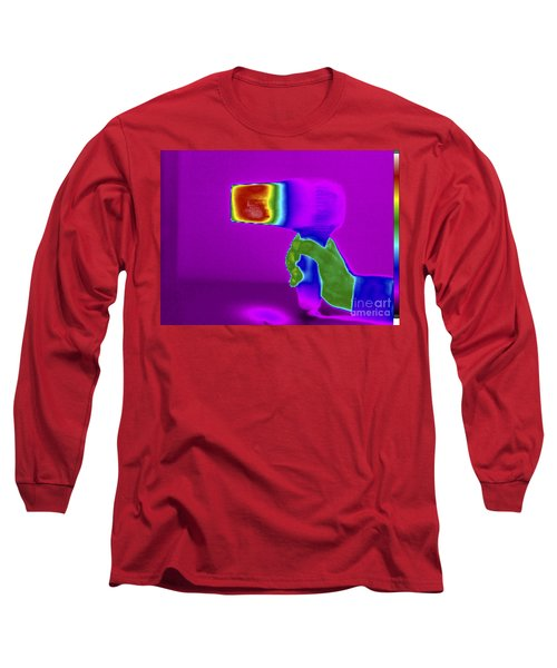 Thermogram Of Hair Dryer Long Sleeve T-Shirt
