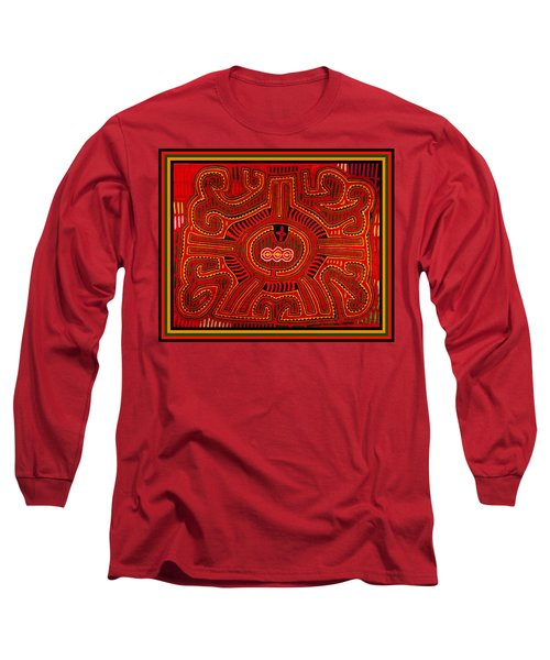 Long Sleeve T-Shirt featuring the digital art Three Layers Of The World by Vagabond Folk Art - Virginia Vivier