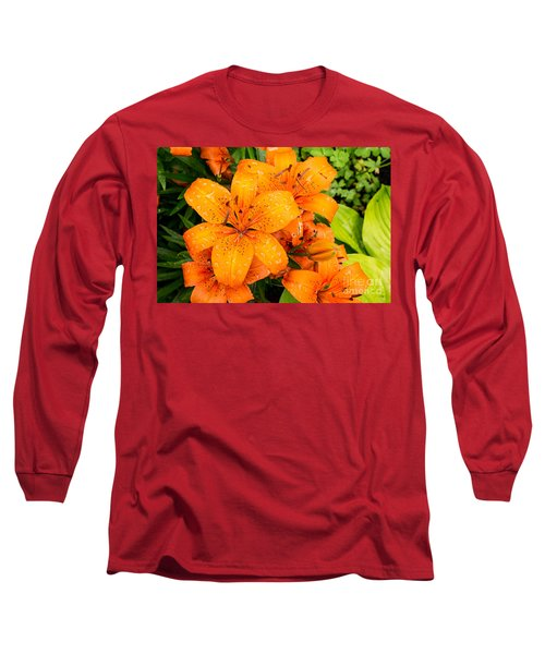 Tiger Lily After Morning Rain Long Sleeve T-Shirt