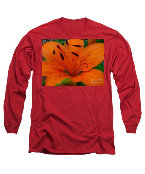 Long Sleeve T-Shirt featuring the photograph Tiger Lily by Bianca Nadeau