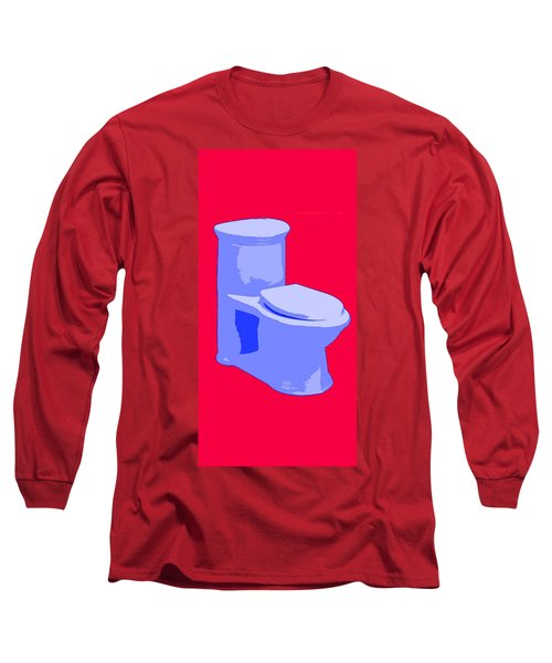 Toilette In Blue Long Sleeve T-Shirt