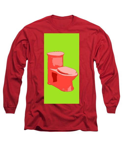 Toilette In Red Long Sleeve T-Shirt