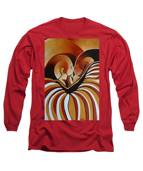 Long Sleeve T-Shirt featuring the painting Touched By Africa I by Tracey Harrington-Simpson