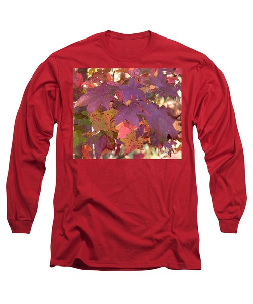 Long Sleeve T-Shirt featuring the photograph Traces Of Fall by Andrea Anderegg