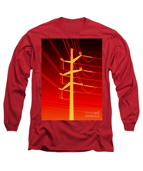 Transmission Tower Thermogram Long Sleeve T-Shirt