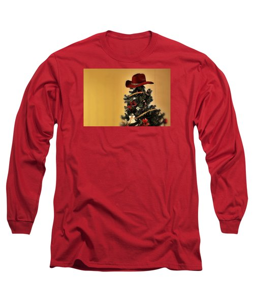 Long Sleeve T-Shirt featuring the photograph Tree Topper Texas Style by Nadalyn Larsen