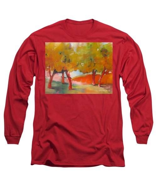 Long Sleeve T-Shirt featuring the painting Trees #5 by Michelle Abrams