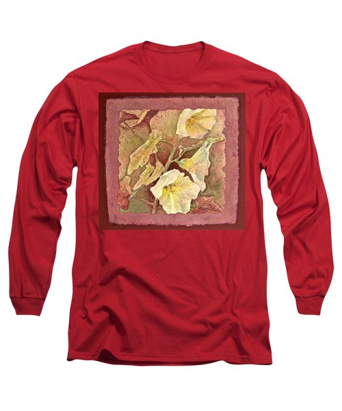 Long Sleeve T-Shirt featuring the painting Triple White by Carolyn Rosenberger