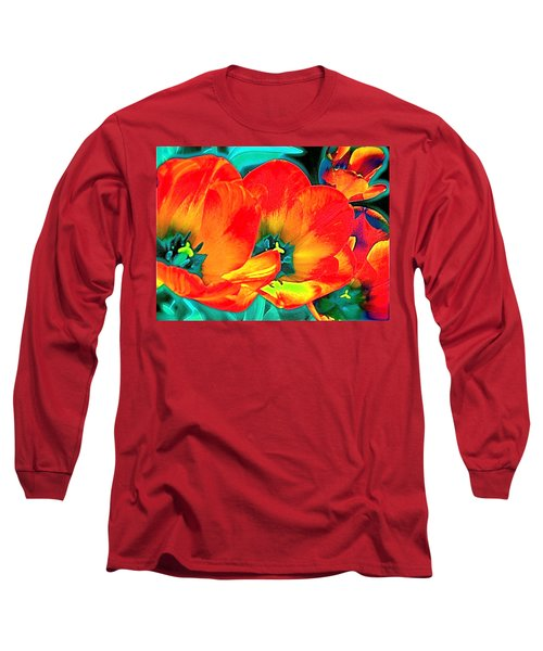 Long Sleeve T-Shirt featuring the photograph Tulip 1 by Pamela Cooper