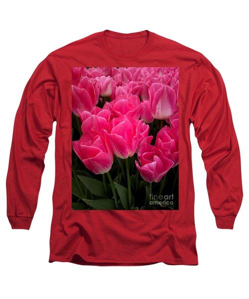 Tulip Festival - 19 Long Sleeve T-Shirt by Hanza Turgul