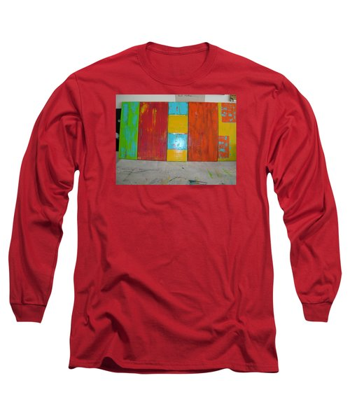 Long Sleeve T-Shirt featuring the painting Tuscany Seasons by Sharyn Winters