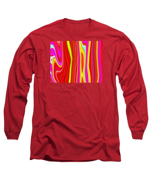 Long Sleeve T-Shirt featuring the painting Twiggy Stripes C2014 by Paul Ashby