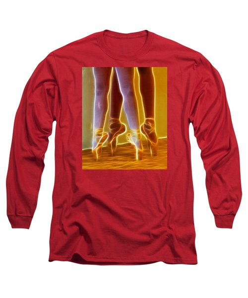 Ballet On Point Seond Position Long Sleeve T-Shirt